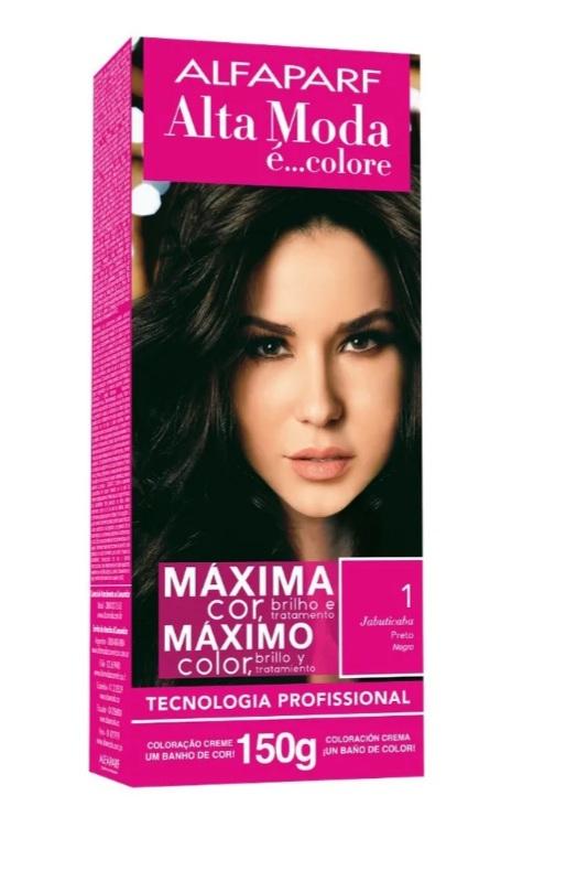 Alta Moda Kit Coloração 1.0 preto 150 g