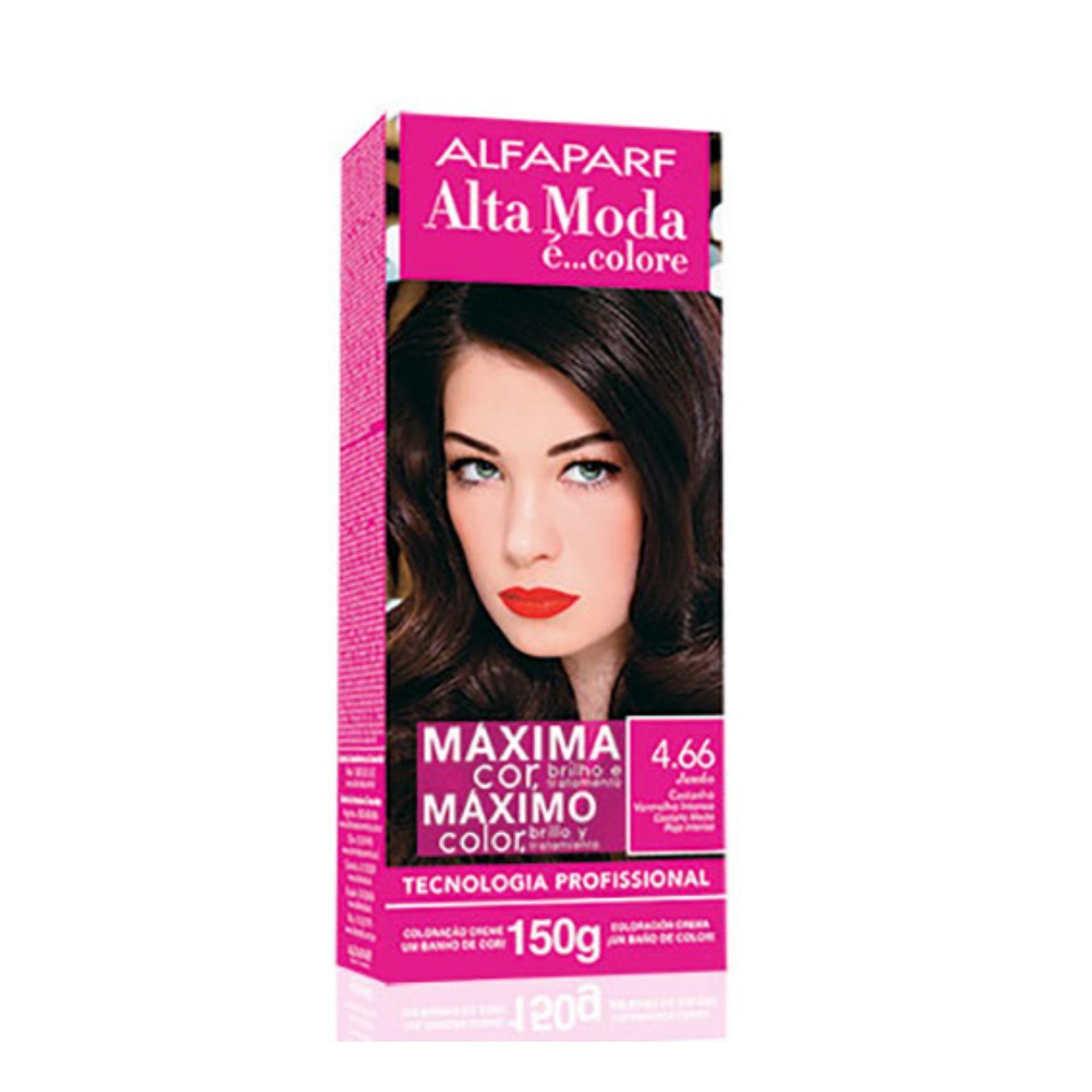 Alta Moda Kit Coloração 4.66 Vermelho Intenso 150g