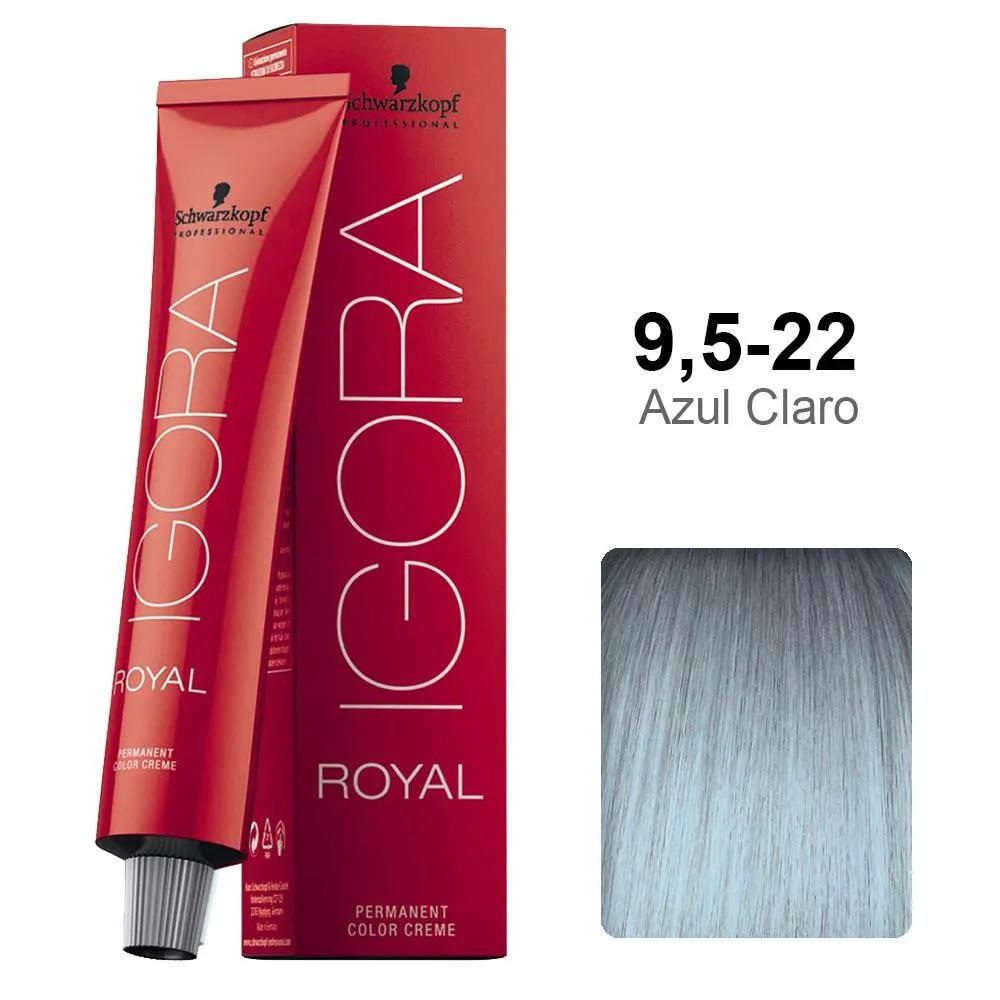 Coloração Igora Royal 9,5-22  Azul Claro - Schwarzkopf