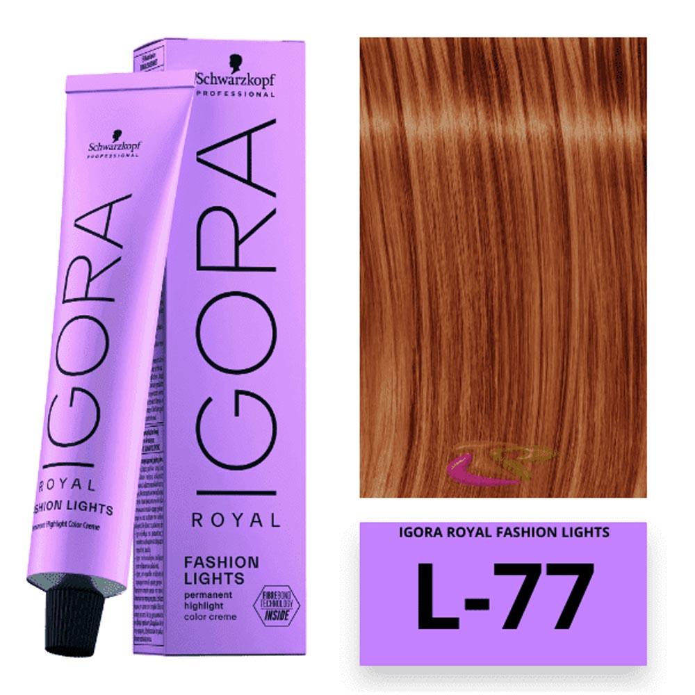Coloração Igora Royal Fashion Lights Cobre Extra - L77 - Schwarzkopf