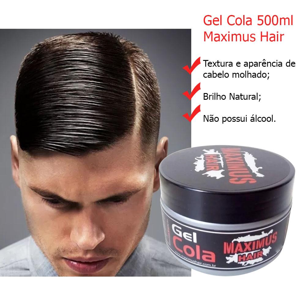 Combo 5 uni. Gel Cola 500ml + Brinde Grátis Gel Cola 150ml - Maximus Hair
