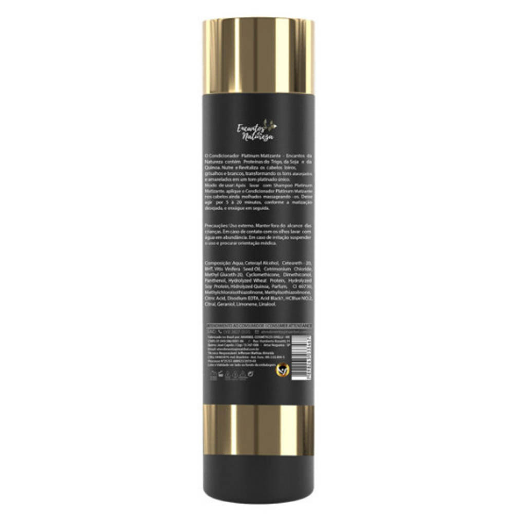 Condicionador Matizante Platinum 300ml - Encantos da Natureza