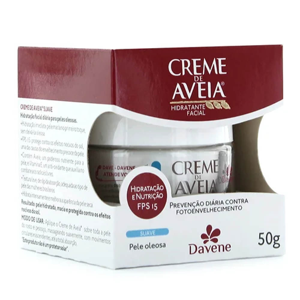 Creme Hidratante Aveia Suave FPS15 50g - Davene