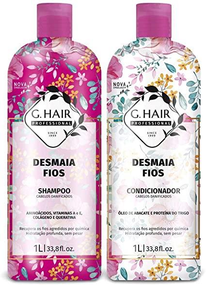 Kit Shampoo e Condicionador 1L Desmaia Fios - G HAIR