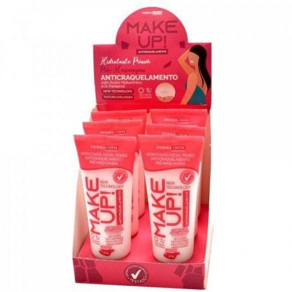 Hidratante Facial Anticraquelamento Pre-Maquiagem Box com 6Un. - DermaChem