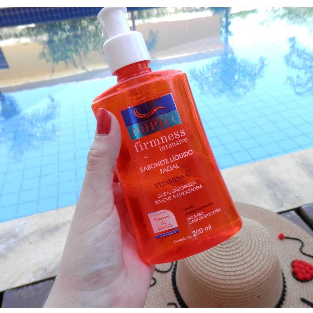 Kit Facial Firmness Vitamina C Sabonete Líquido 60ml+Creme Facial 30g + Loção Tônica 60ml - Nupill