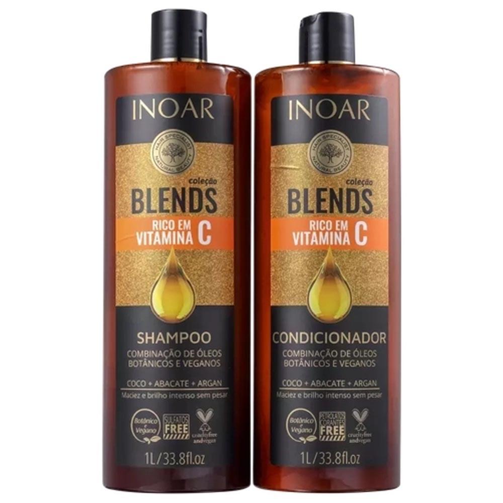 Kit Shampoo e Condicionador 1L Blends Vitamina C - Inoar