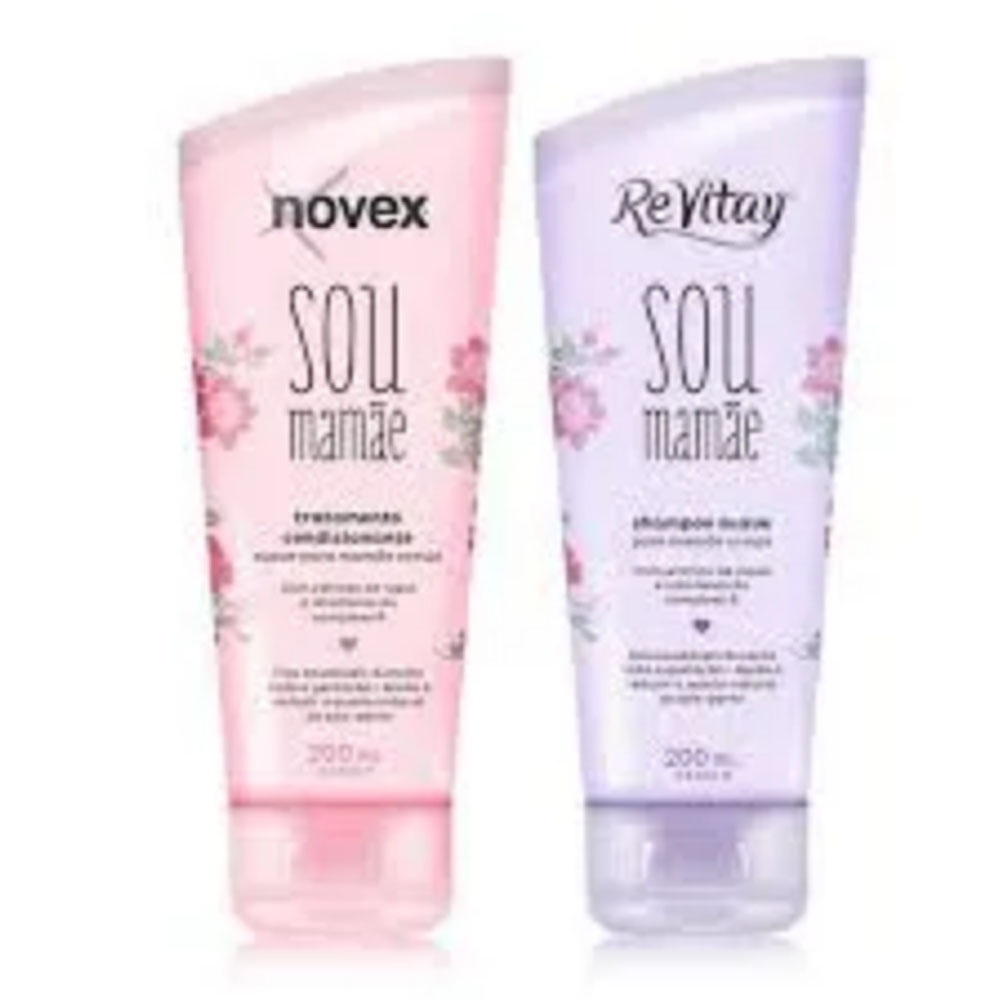 Kit Shampoo e Condicionador Revitay Novex Sou Mamae 2oo ml - Embelleze
