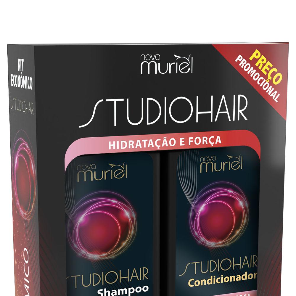 Kit Shampoo e Condicionador Studio Hair Hidratação 250ml - Muriel