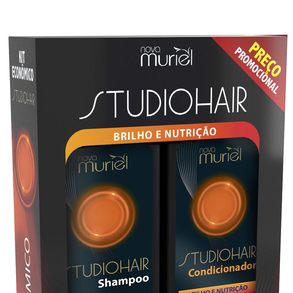Kit Shampoo e Condicionador Studio Hair Nutrição Brilho 250ml - Muriel
