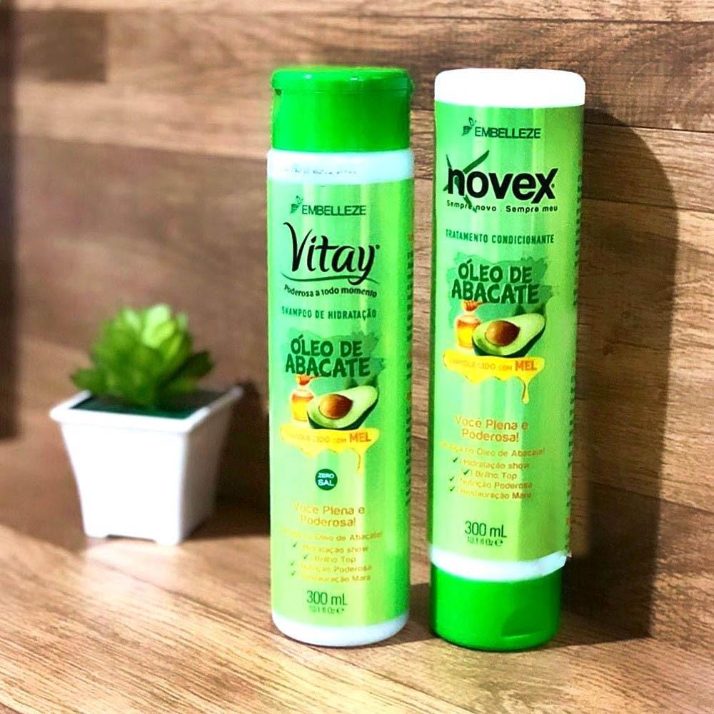 Kit Shampoo e Condicionador Vitay + Novex Óleo De Abacate - Embelezze