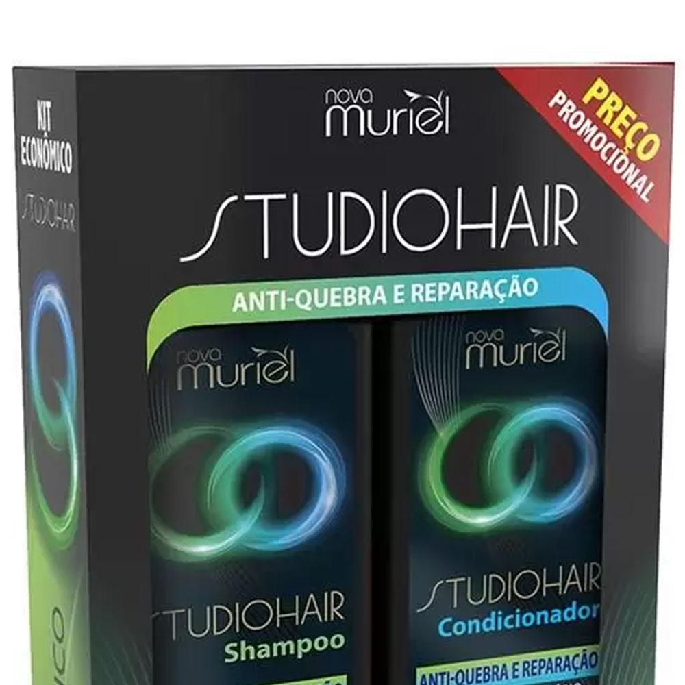 Kit Studio Hair Shampoo e Condicionador Antiquebra e Reparação 250ml - Muriel