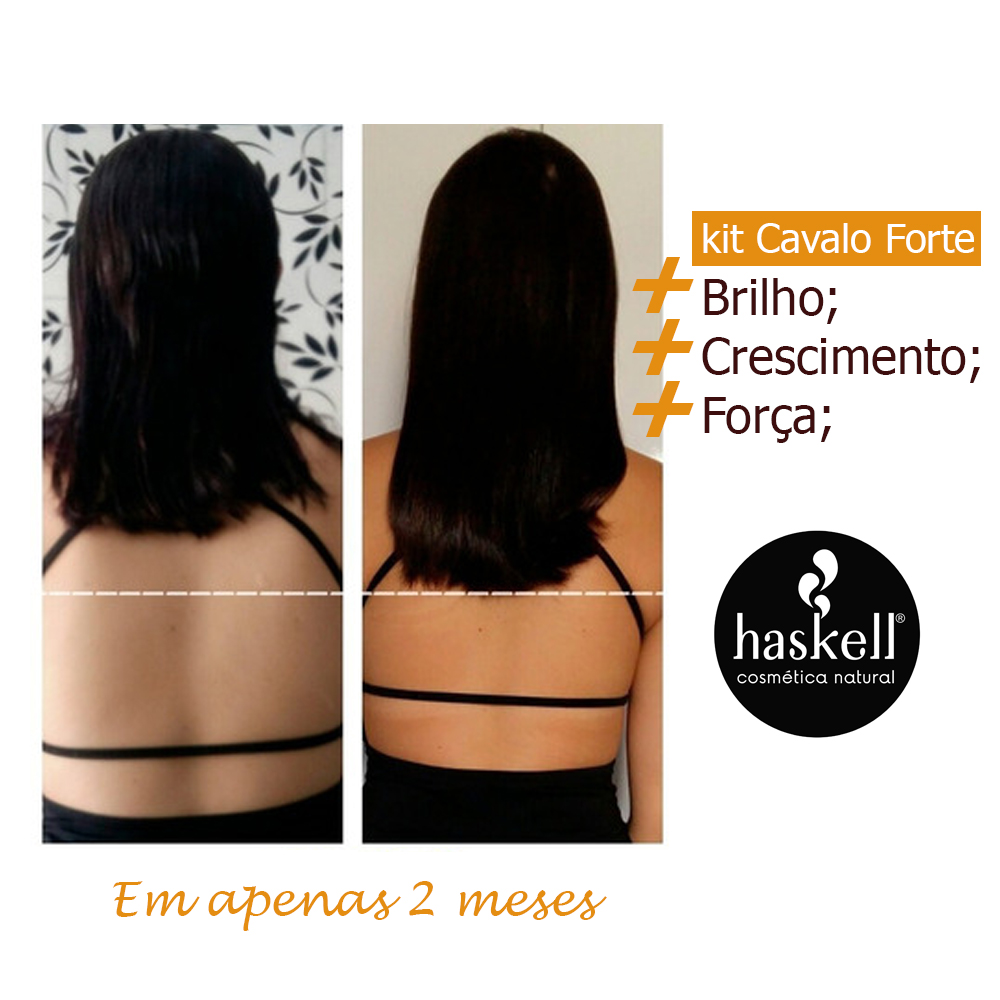 kit Tratamento Fortalecedor Cavalo Forte 4 itens 725 - Haskell