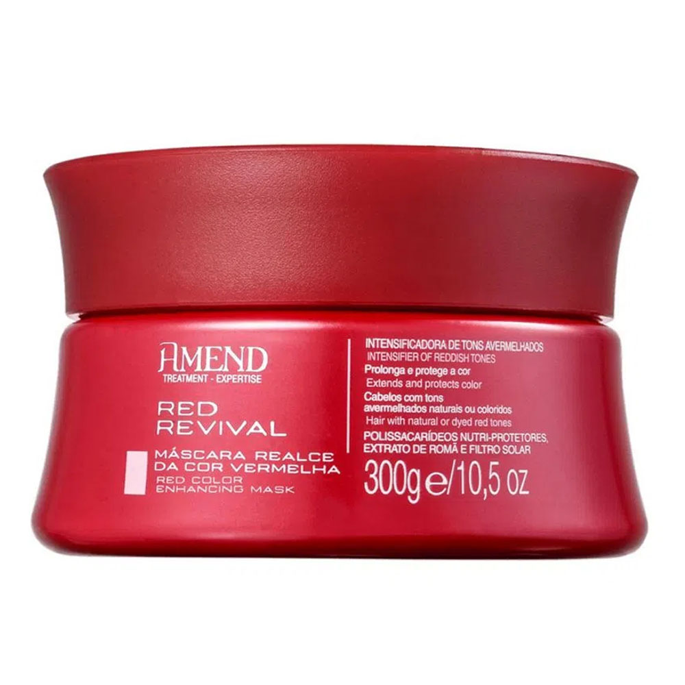Máscara Realce da Cor Vermelha Red Revival 300g - Amend