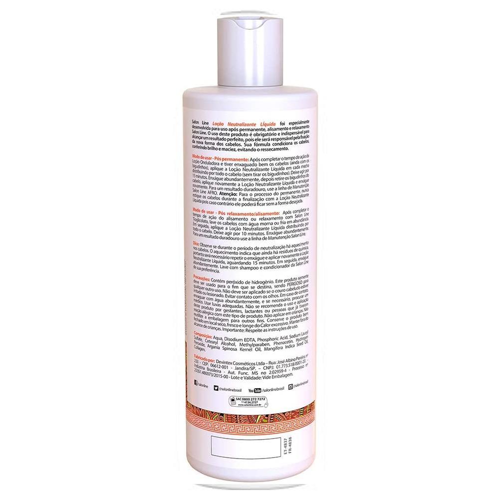 Neutralizante Permanente Afro 480ml - Salon Line