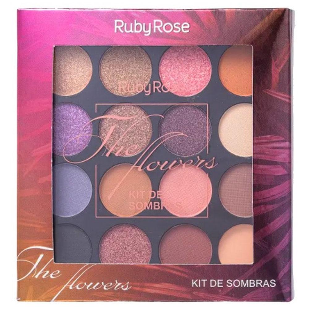 Paleta com 15 Sombras The Flowers - Ruby Rose