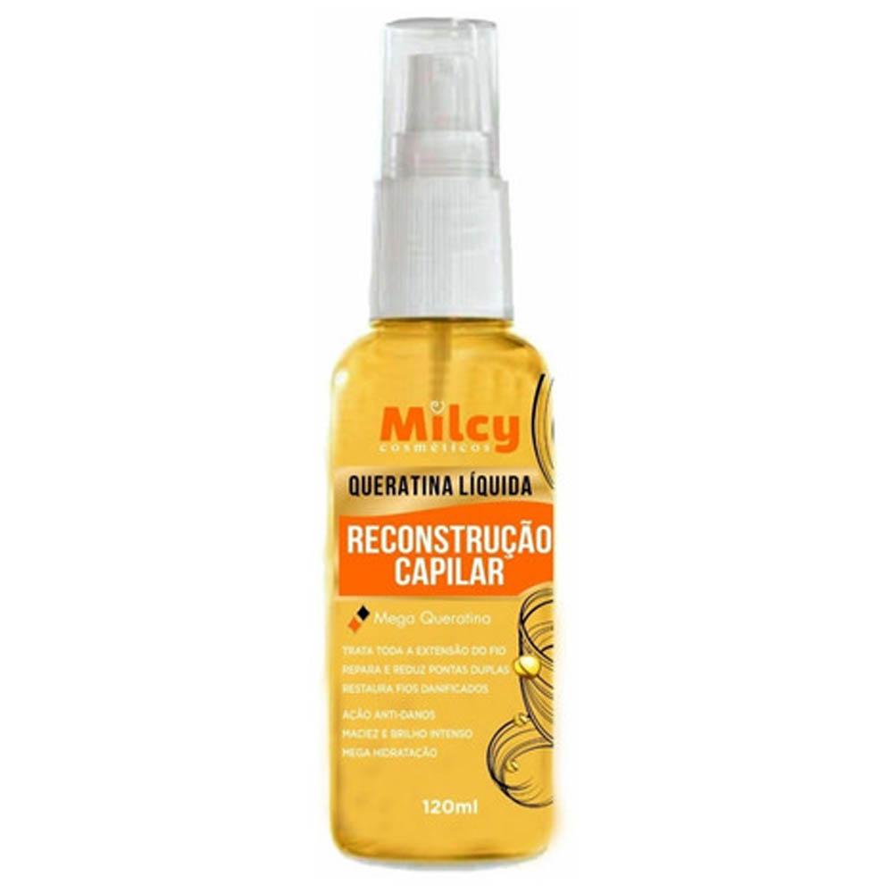 Queratina Liquida 120ml Spray Reconstrução Capilar - Milcy