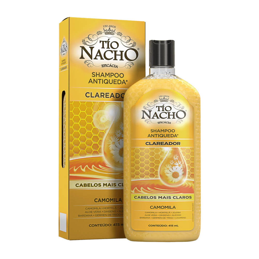 Shampoo Antiqueda Clareador 415ml - Tio Nacho