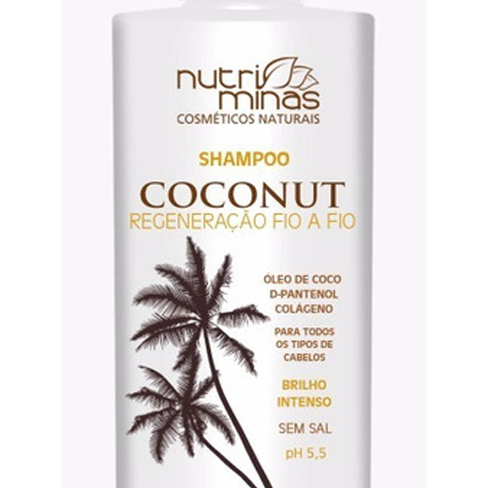 Shampoo Coconut 300ml - Nutri Minas