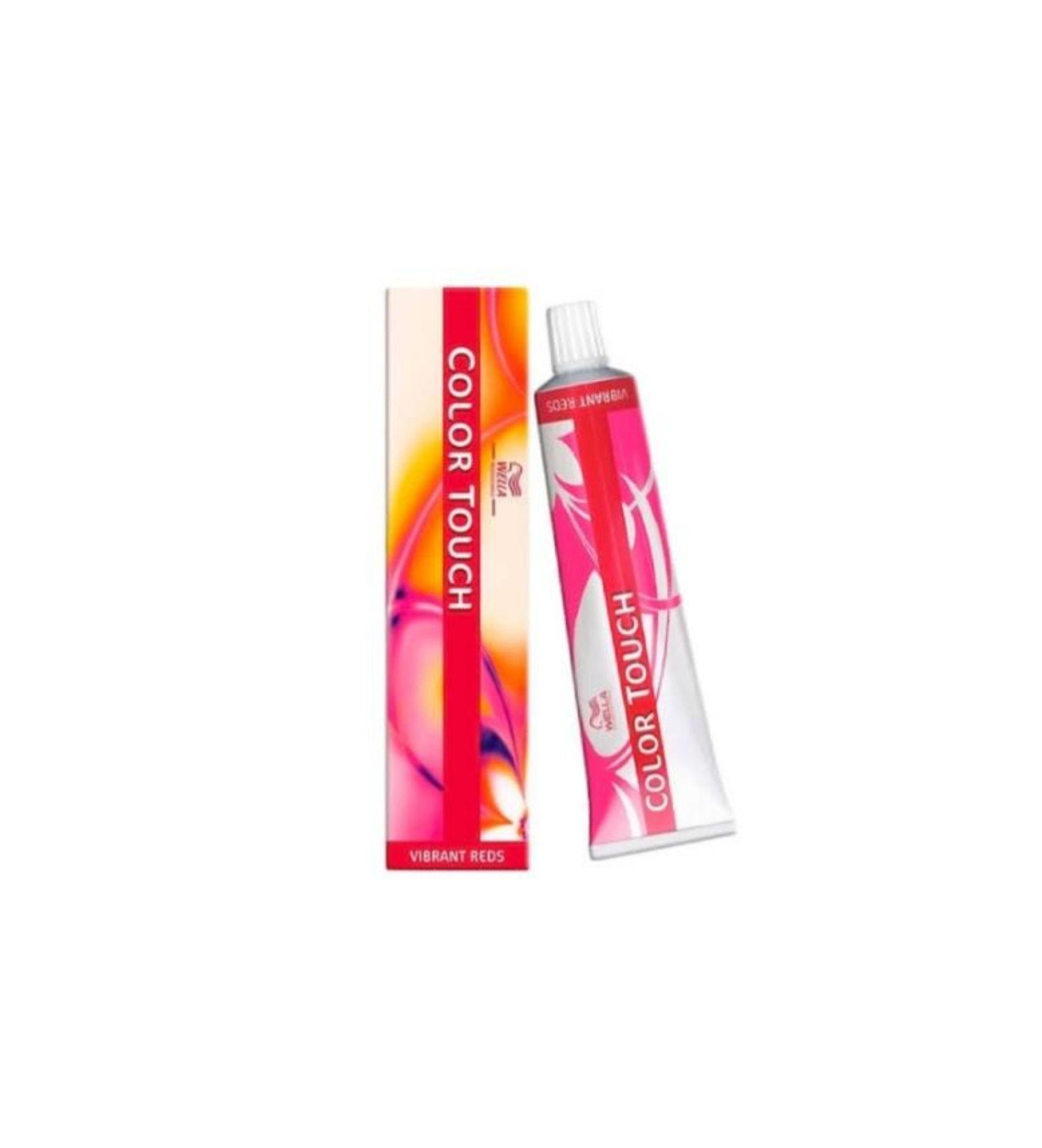 Tonalizante Wella Color Touch Vibrant Reds 66/45 Louro Escuro Intenso Vermelho Acaju 60g