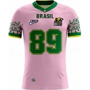 Camisa Of. Brasil Onças Tryout Masc. Outubro Rosa