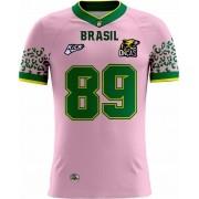 Camisa Of. Brasil Onças Tryout Fem. Outubro Rosa