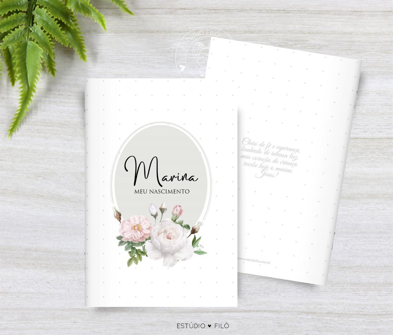 Livrinho de orações lembrancinha para maternidade