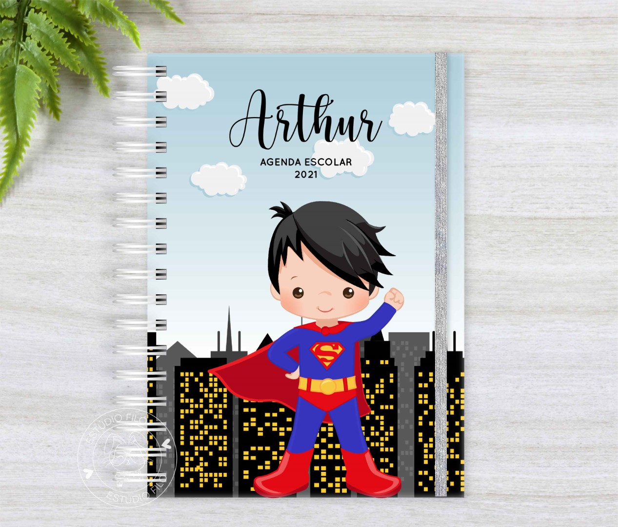 Agenda Escolar 2021 - Super Homem