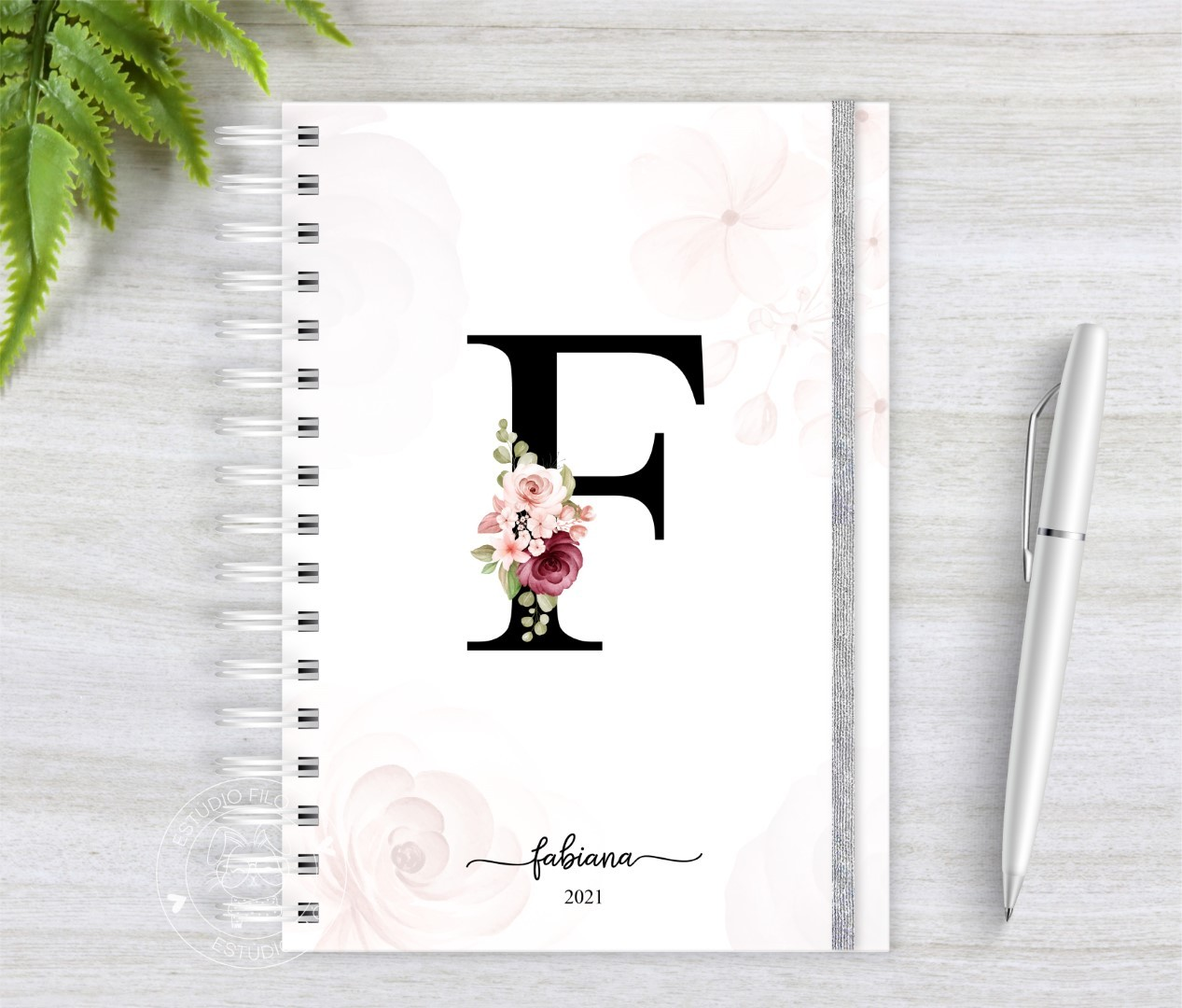 Agenda Permanente Letra floral