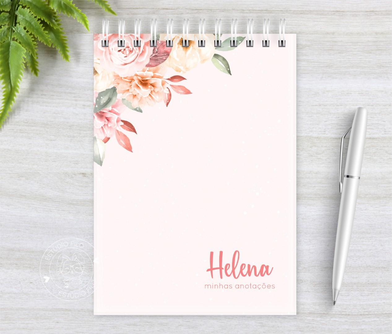 Bloco de anotação Floral A5