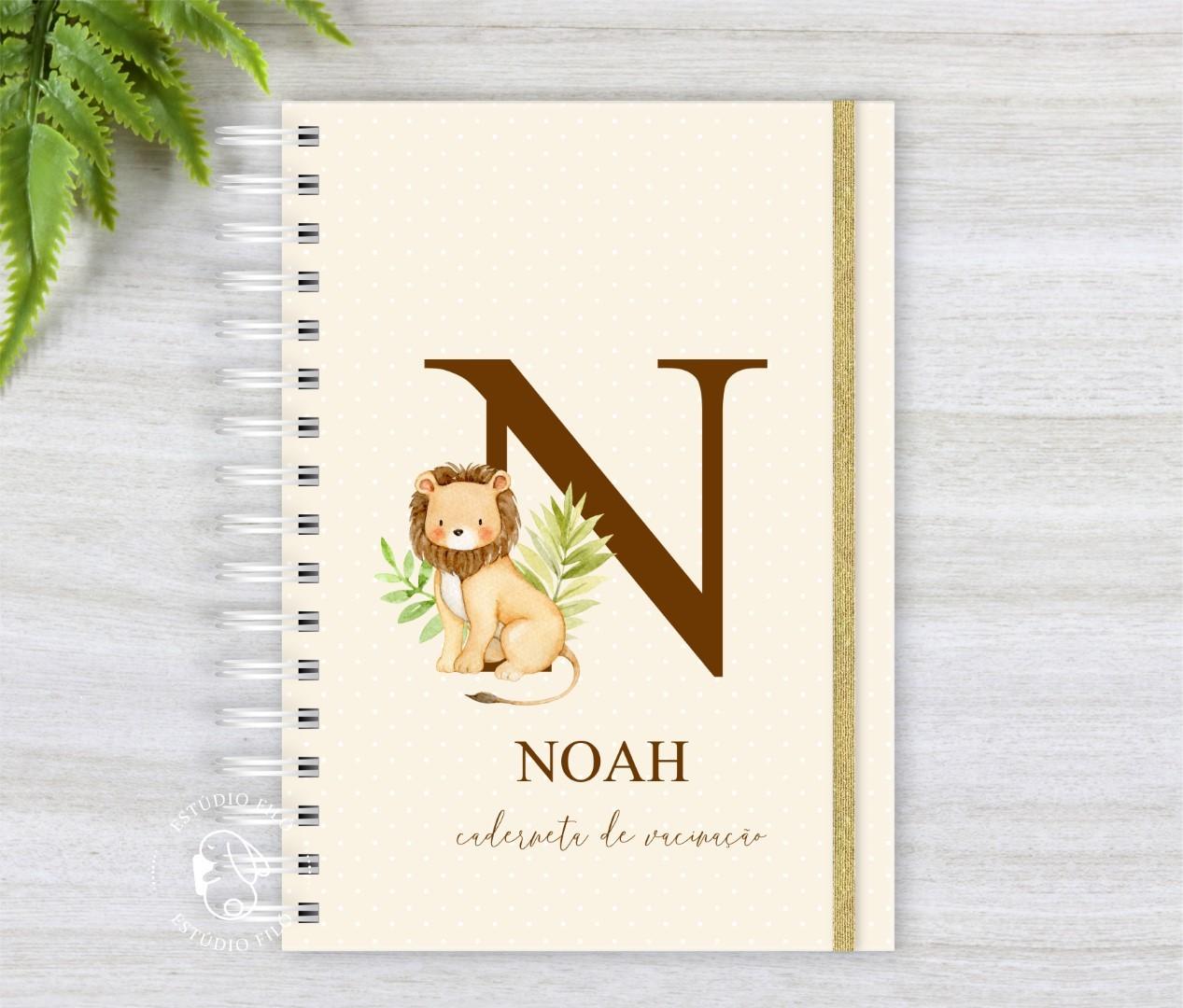 Caderneta de vacinação Leão letra