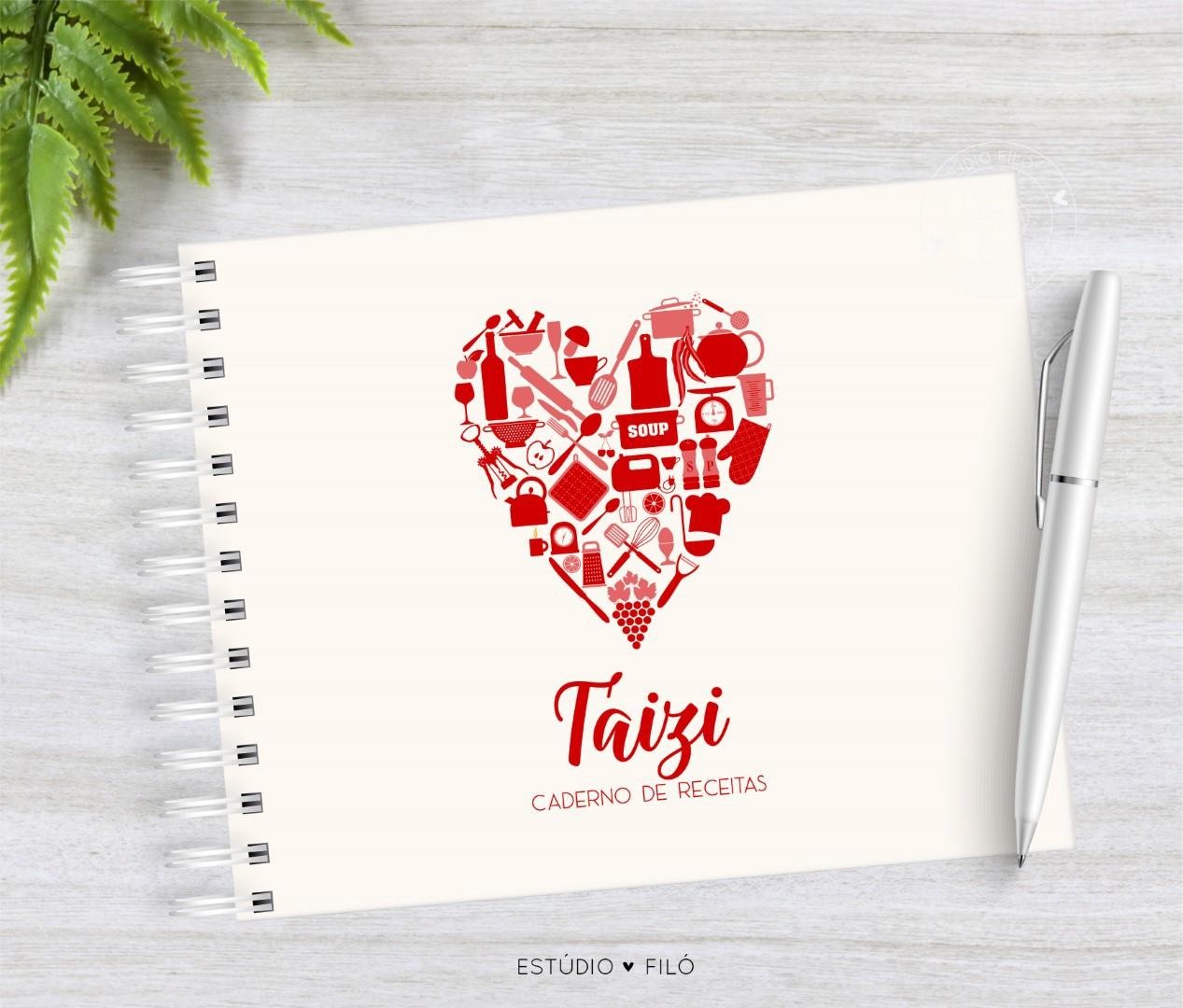 Caderno de receitas coração
