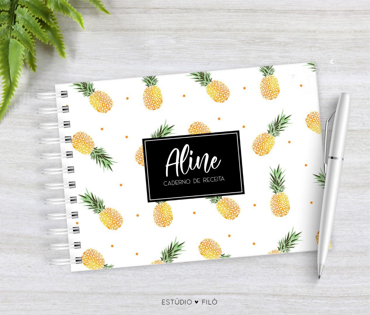 Caderno de receitas abacaxi