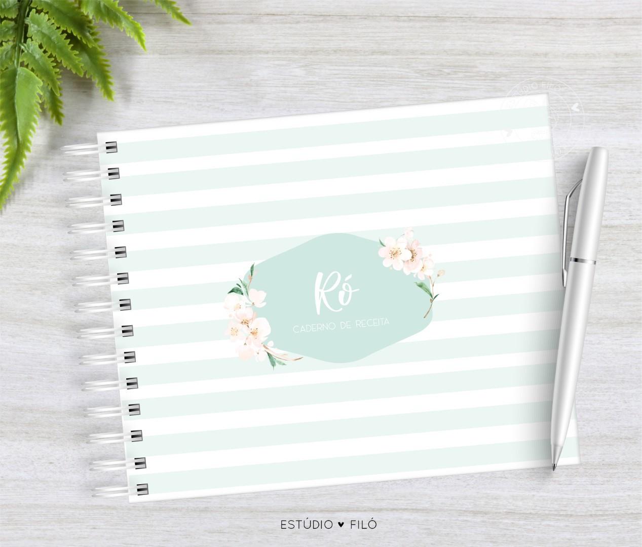 Caderno de receitas cerejeira listrado