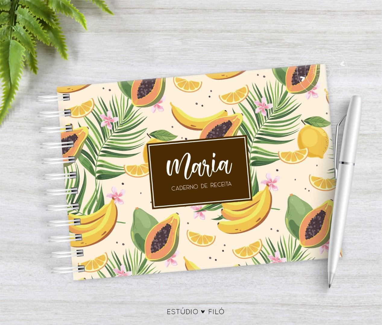 Caderno de receitas frutas