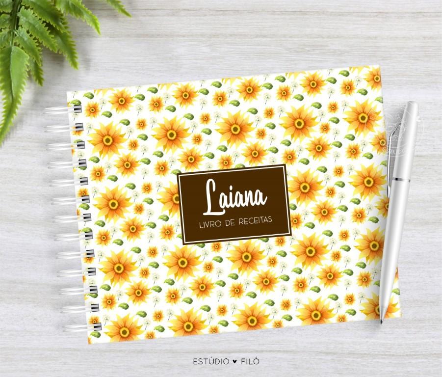 Caderno de receitas Girassol