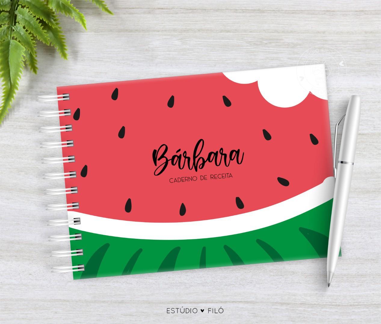 Caderno de receitas melancia
