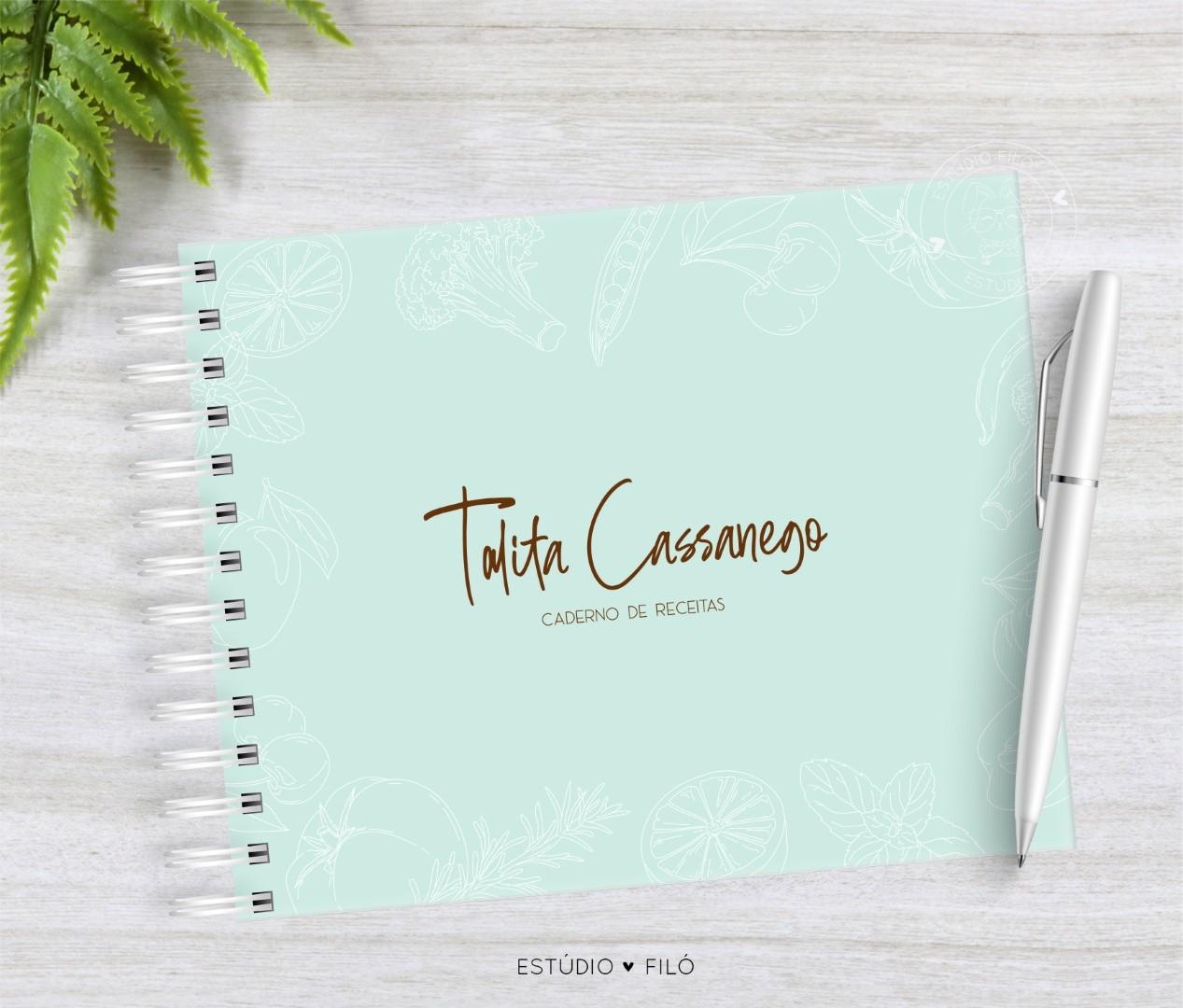 Caderno de receitas silhueta