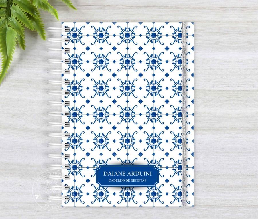 Caderno de receitas azulejo