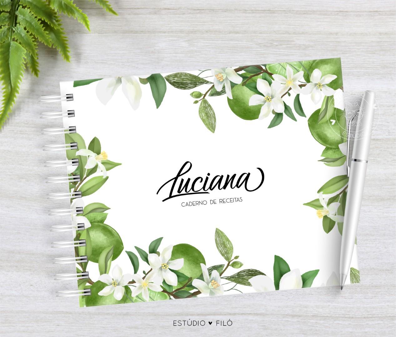 Caderno de receitas Limão