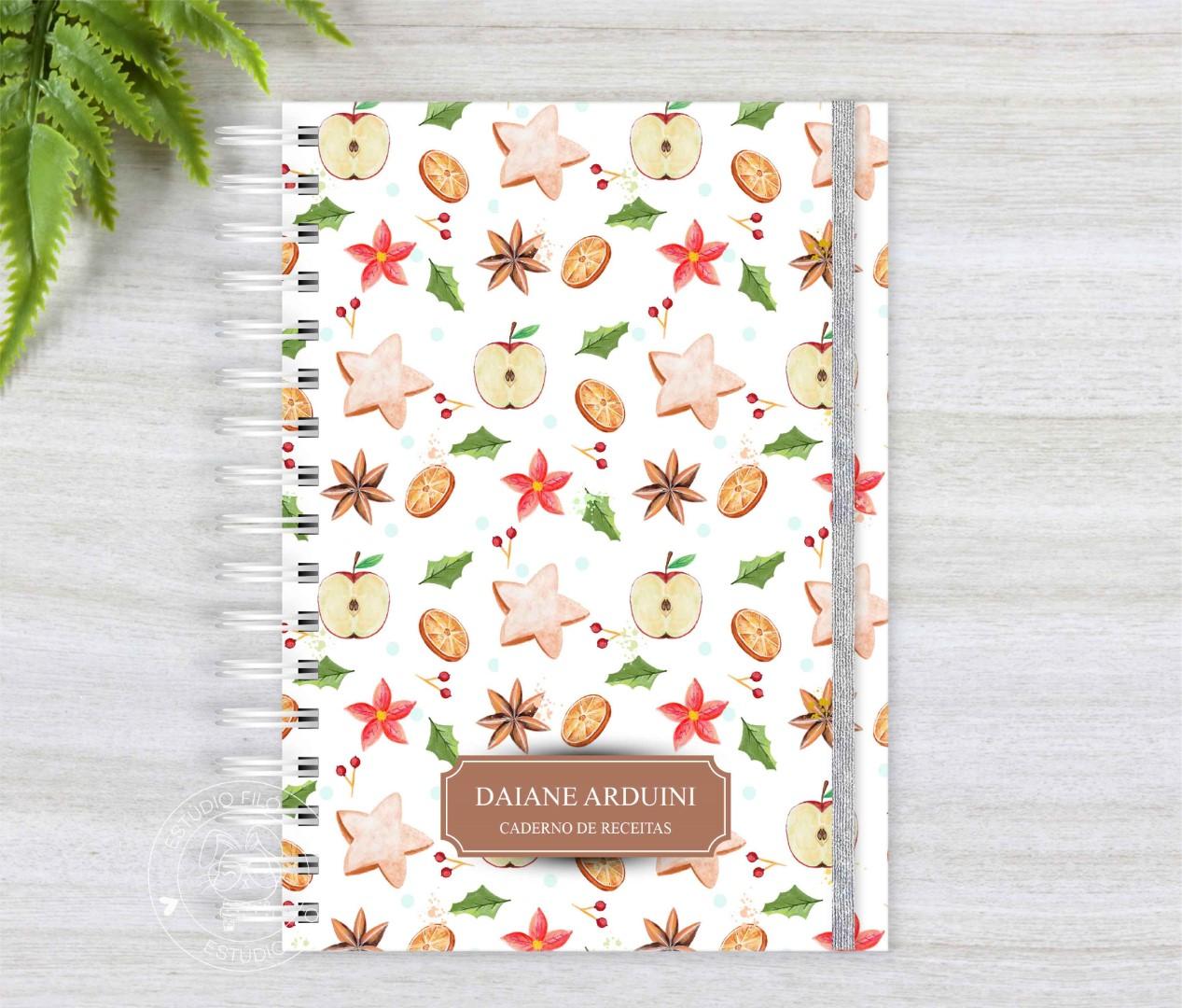 Caderno de receitas maça