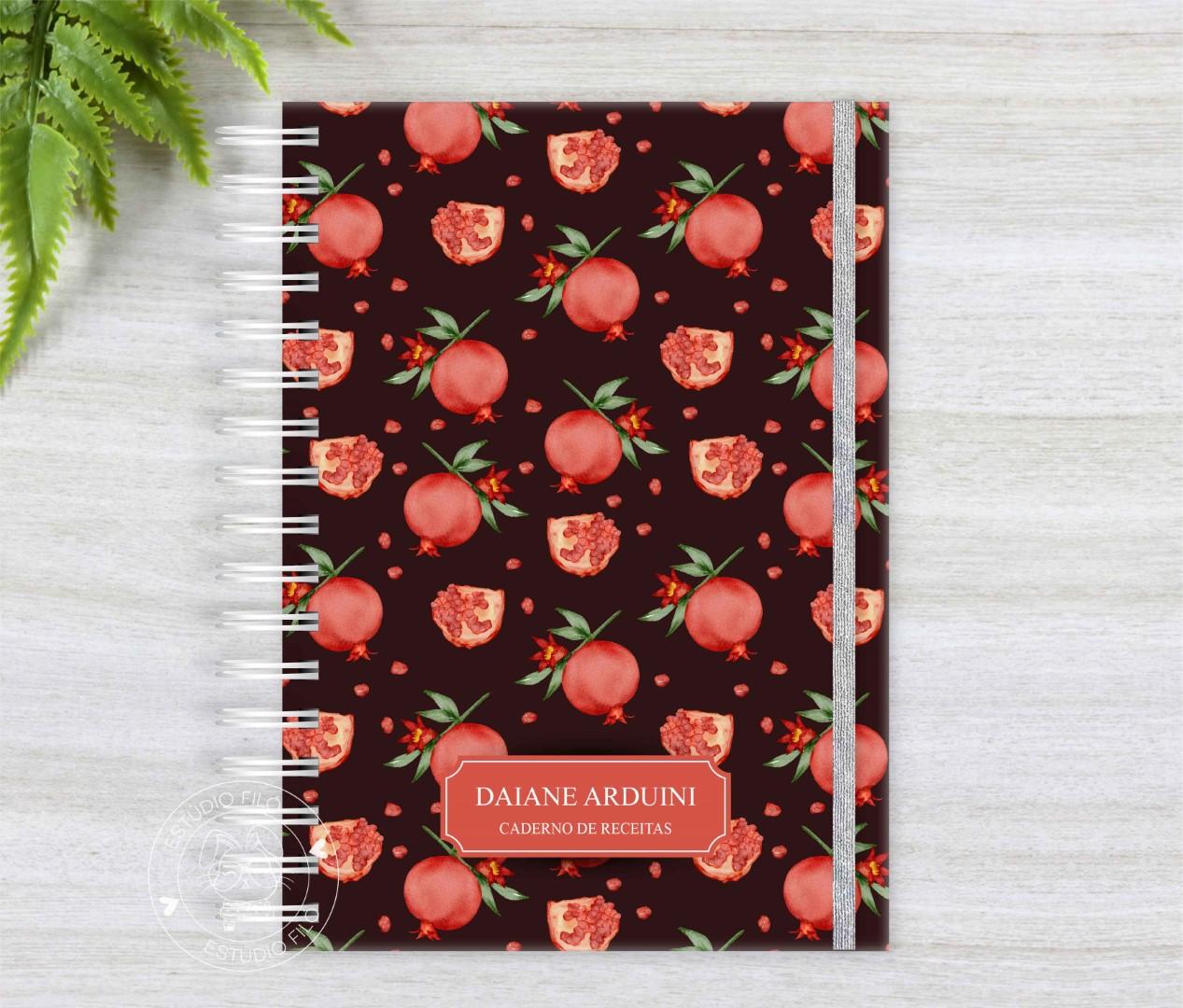 Caderno de receitas romã