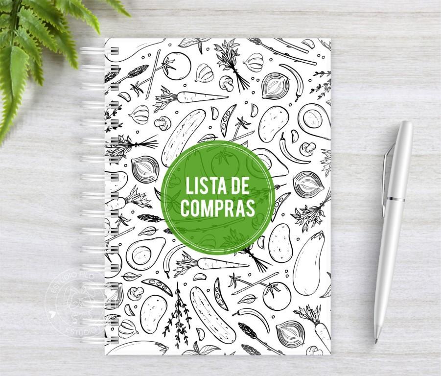 Caderno Lista de Compras Legumes