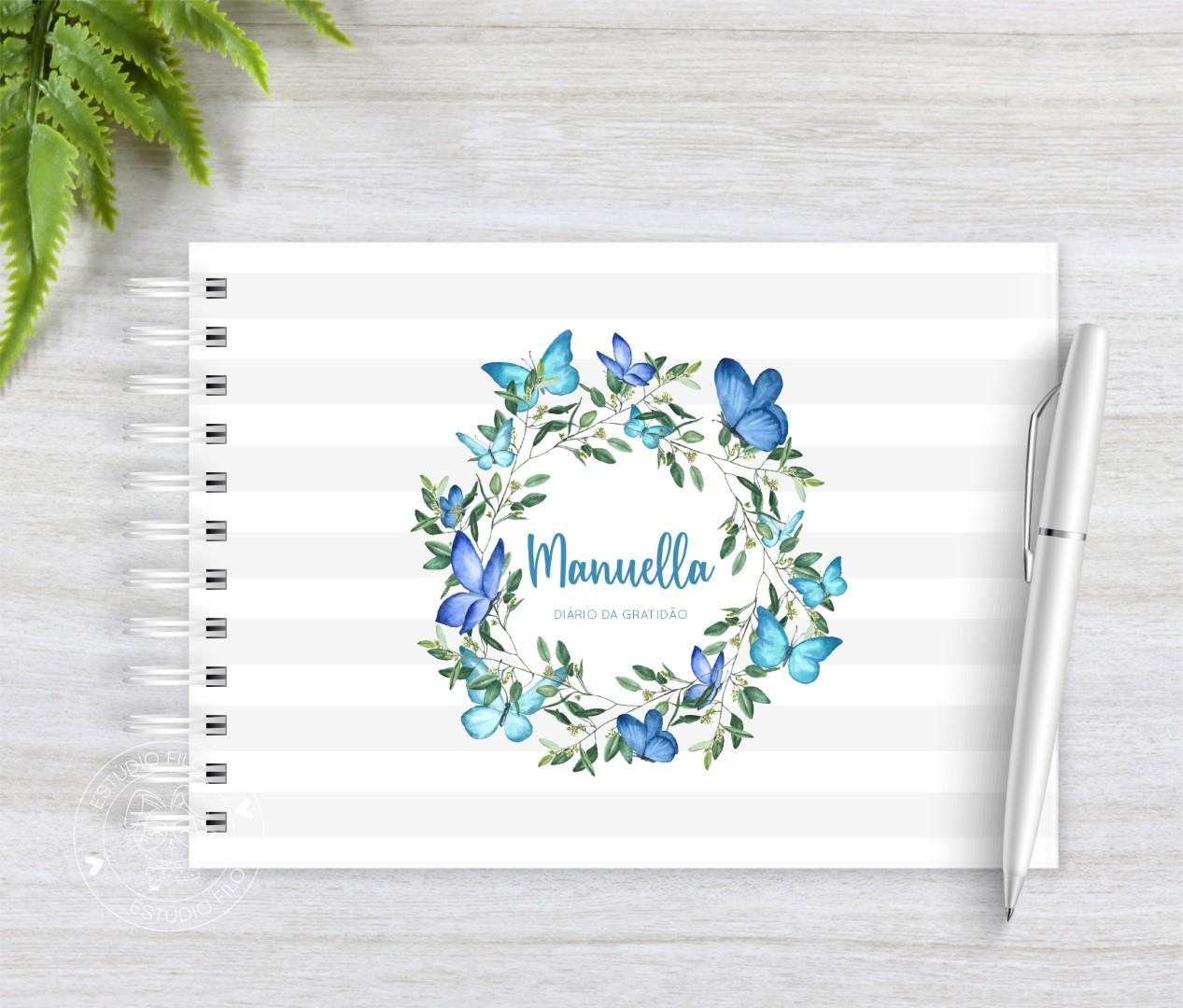 Diário da Gratidão guirlanda floral