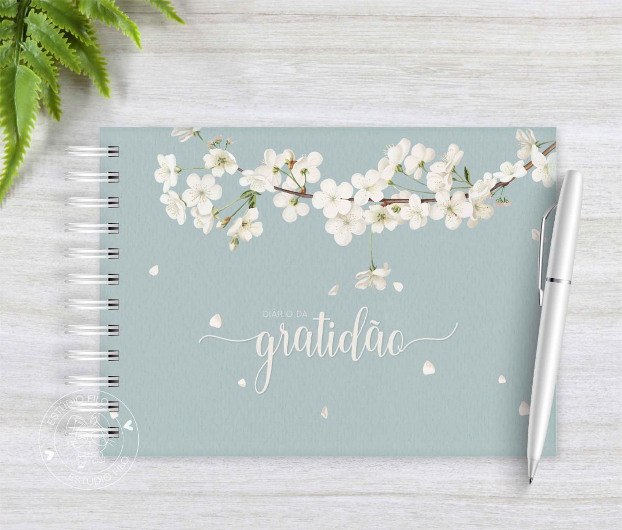 Diário da Gratidão cerejeira branca