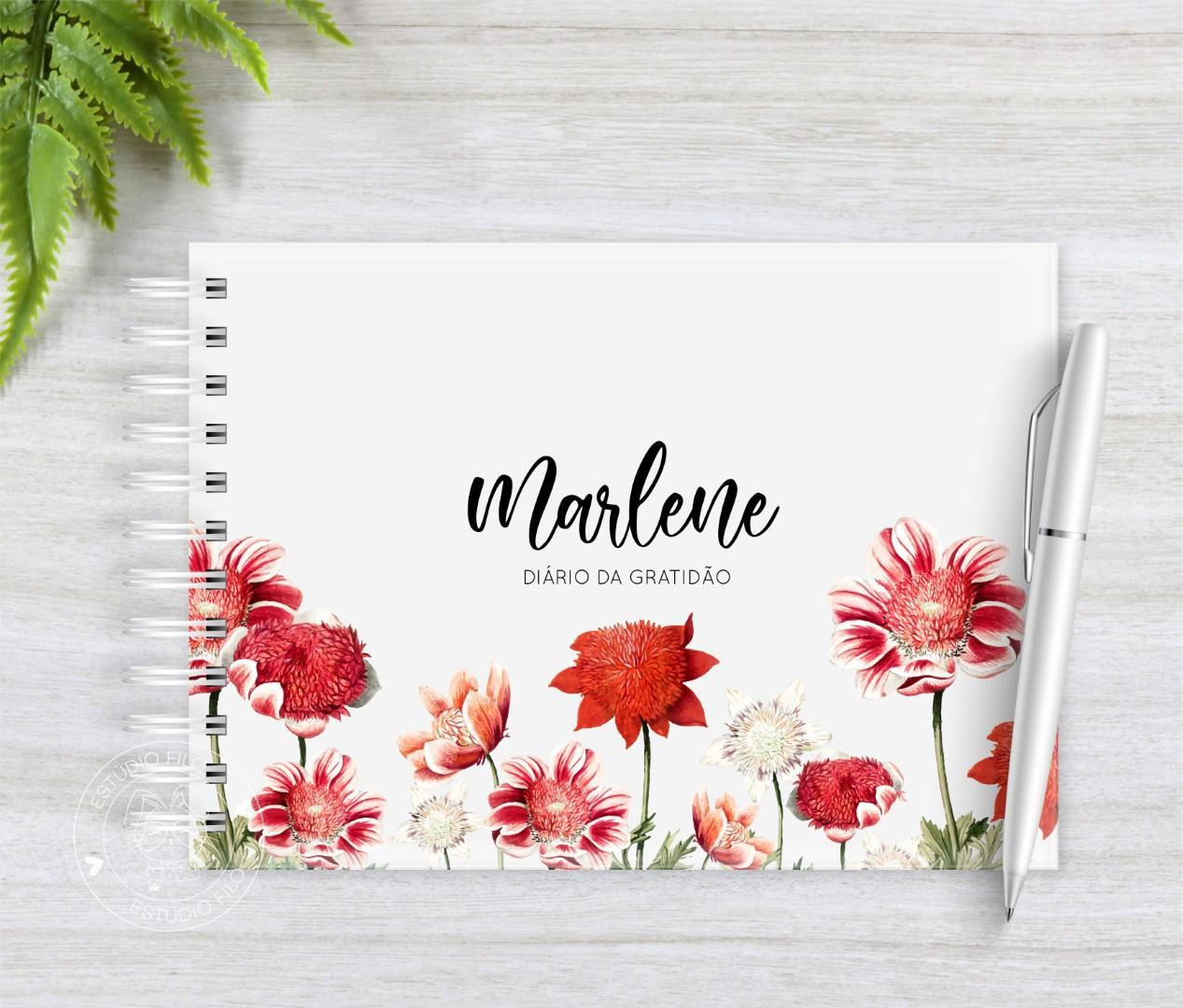 Diário da Gratidão floral