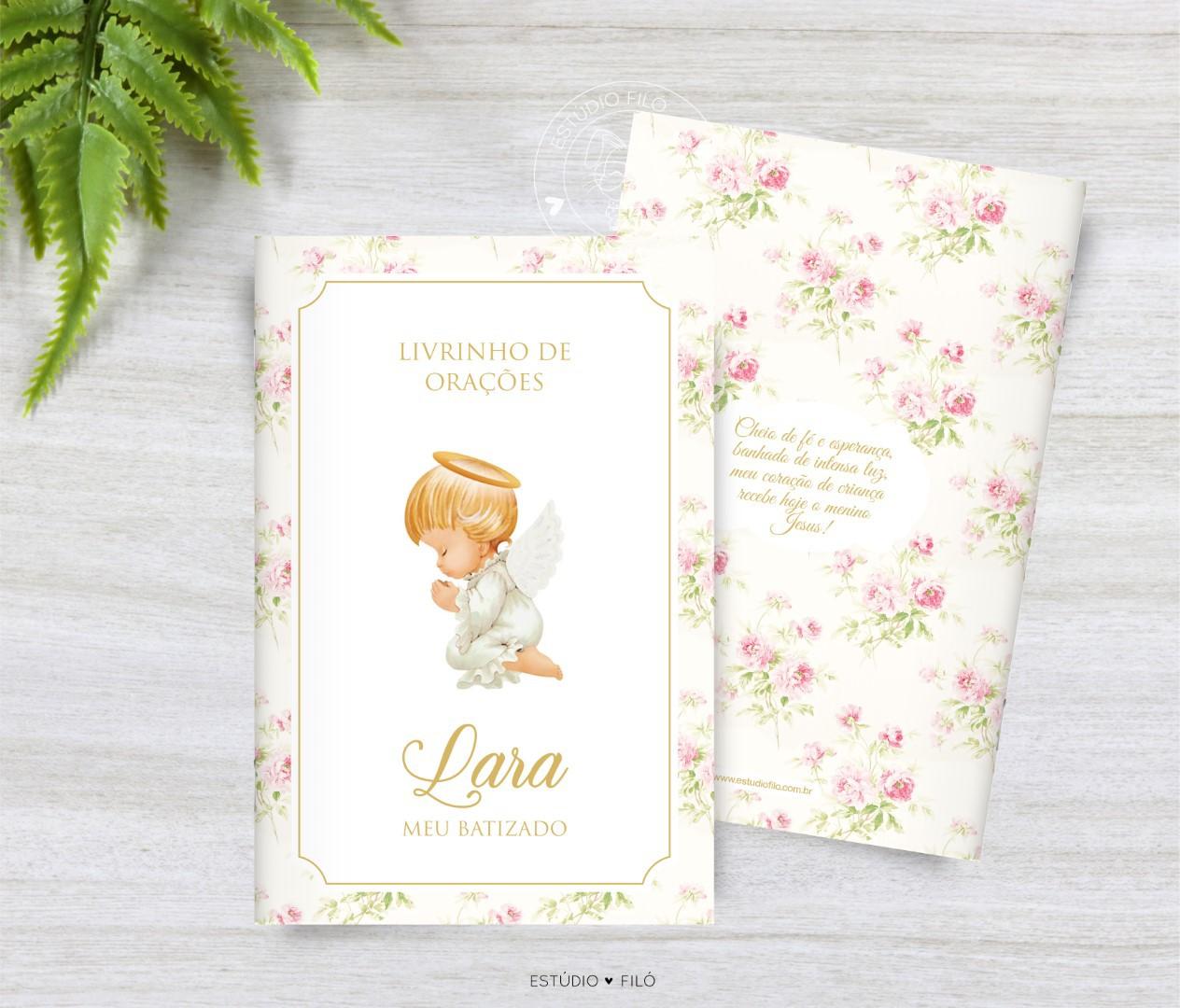 Livrinho de orações floral anjinho para lembrancinha