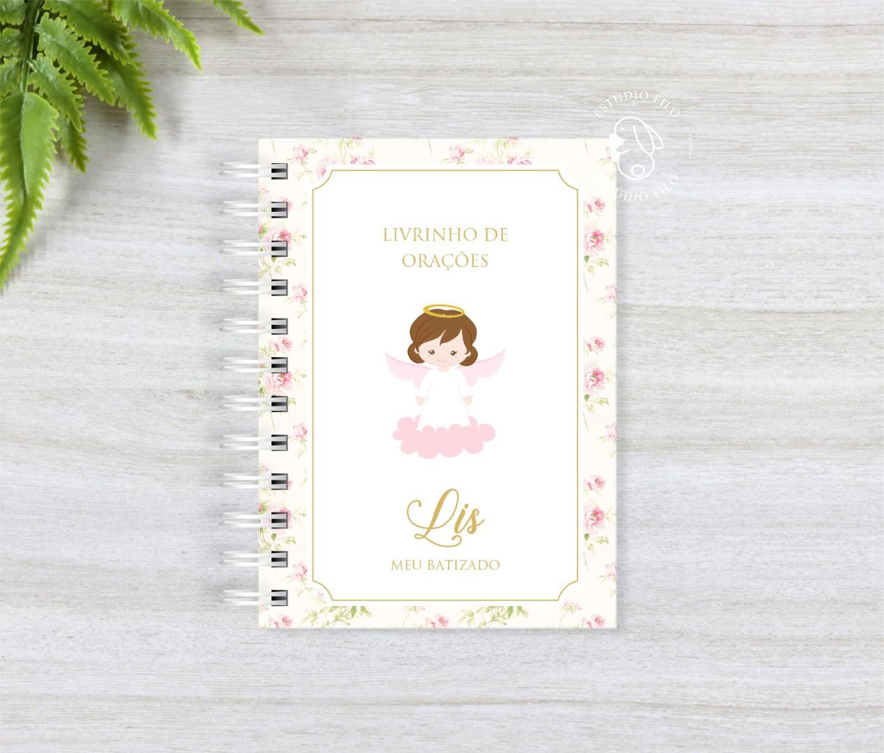 Livro de orações floral para lembrancinha