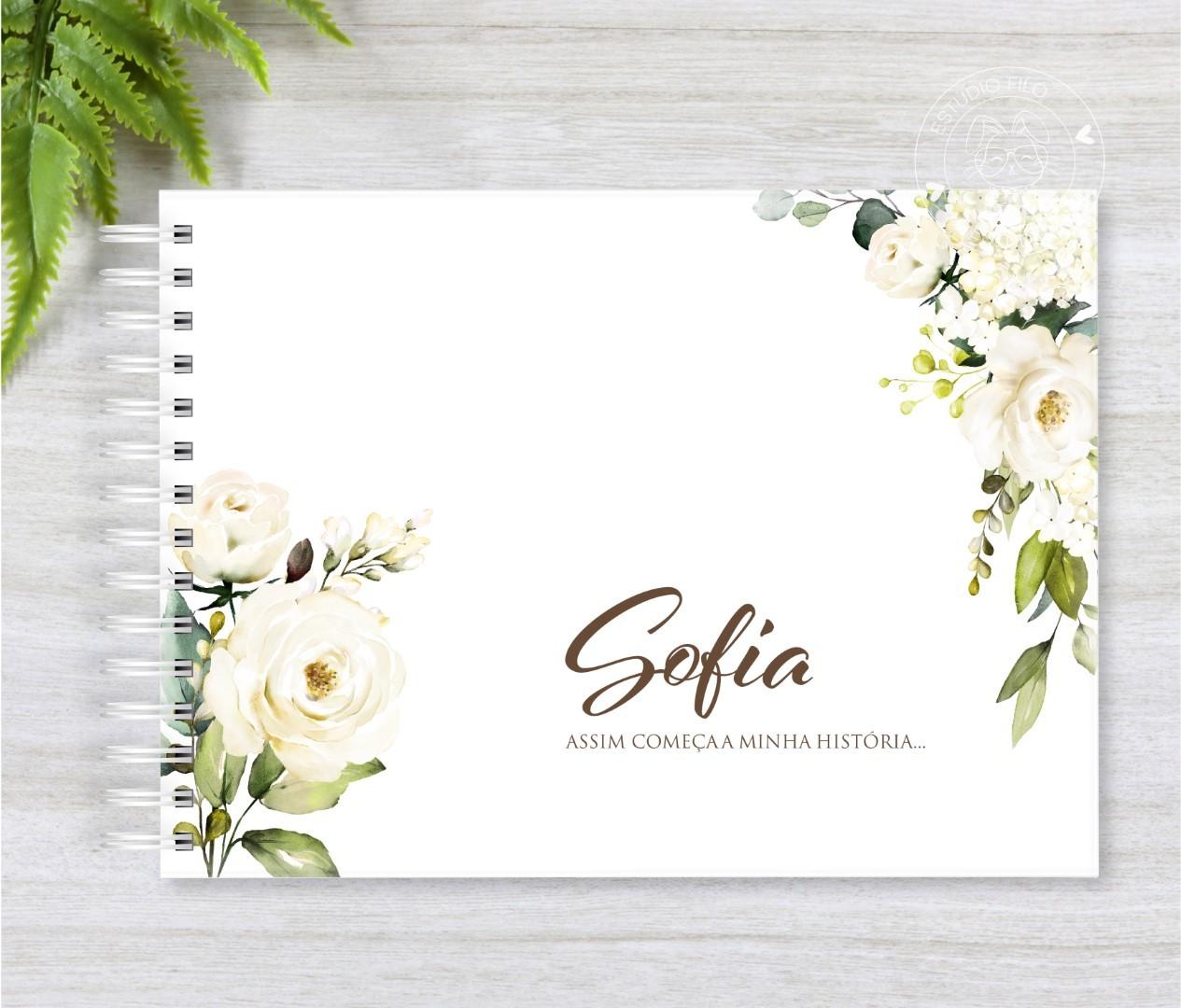 Livro do bebê floral