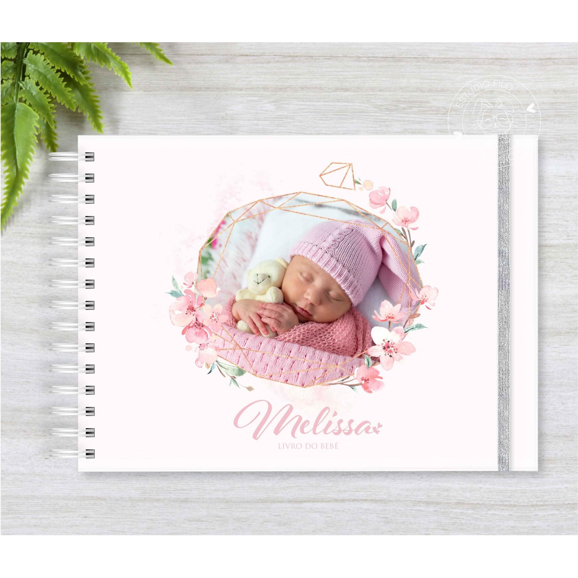 Livro do bebê Foto floral
